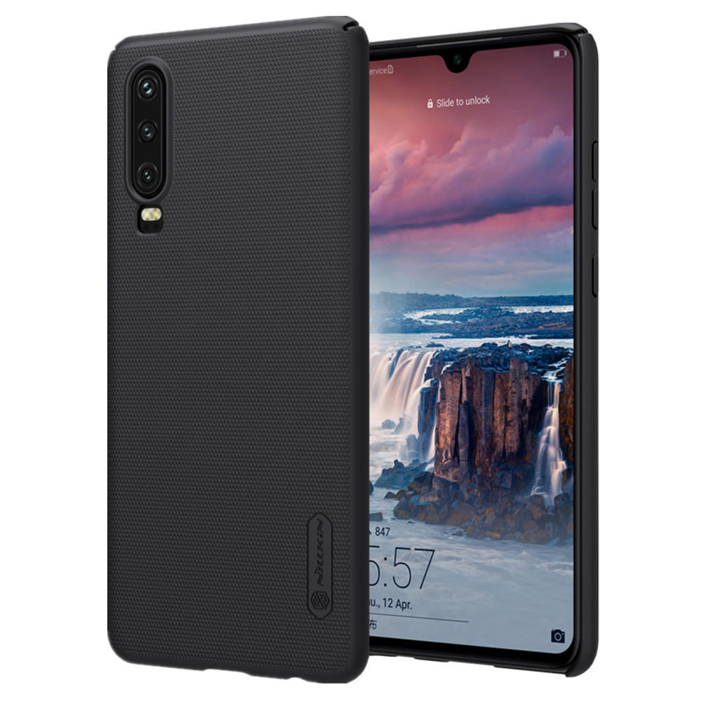 on sale a927f d7b83 NILLKIN Frosted Shockproof Anti-fingerprint Hard PC Back Cover Protective  Case for Huawei P30
