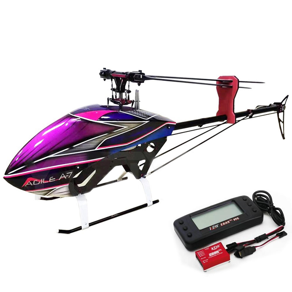 KDS AGILE A7 6CH 3D Flybarless 700 Clase RC Helicóptero Kit con EBAR V2 Gyro '