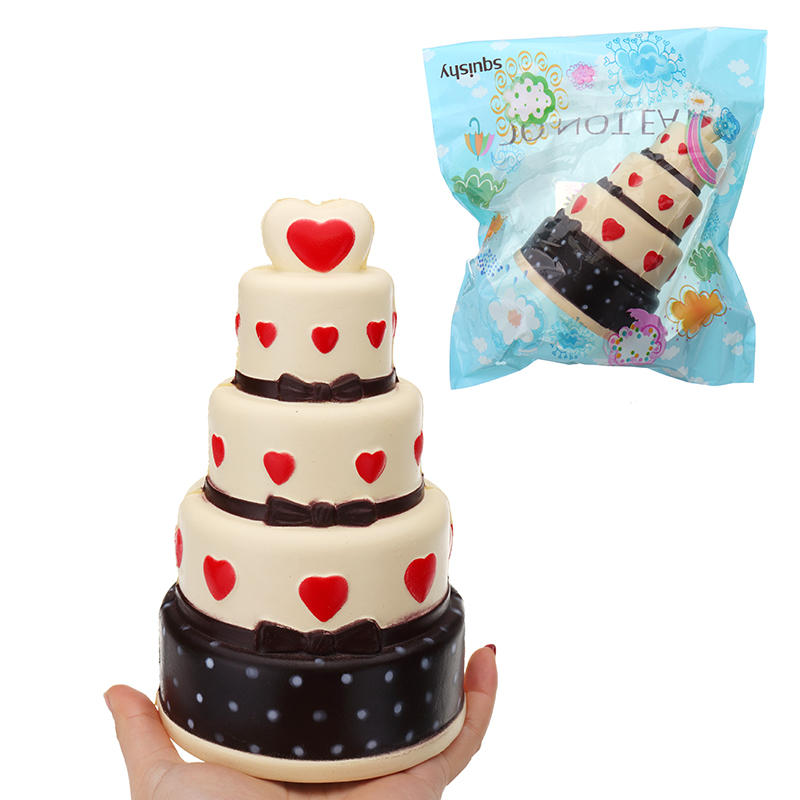 Squishy Cake 11*18 CM Super Slow Rising Cream Scented Original Package Phone Strap With Packaging