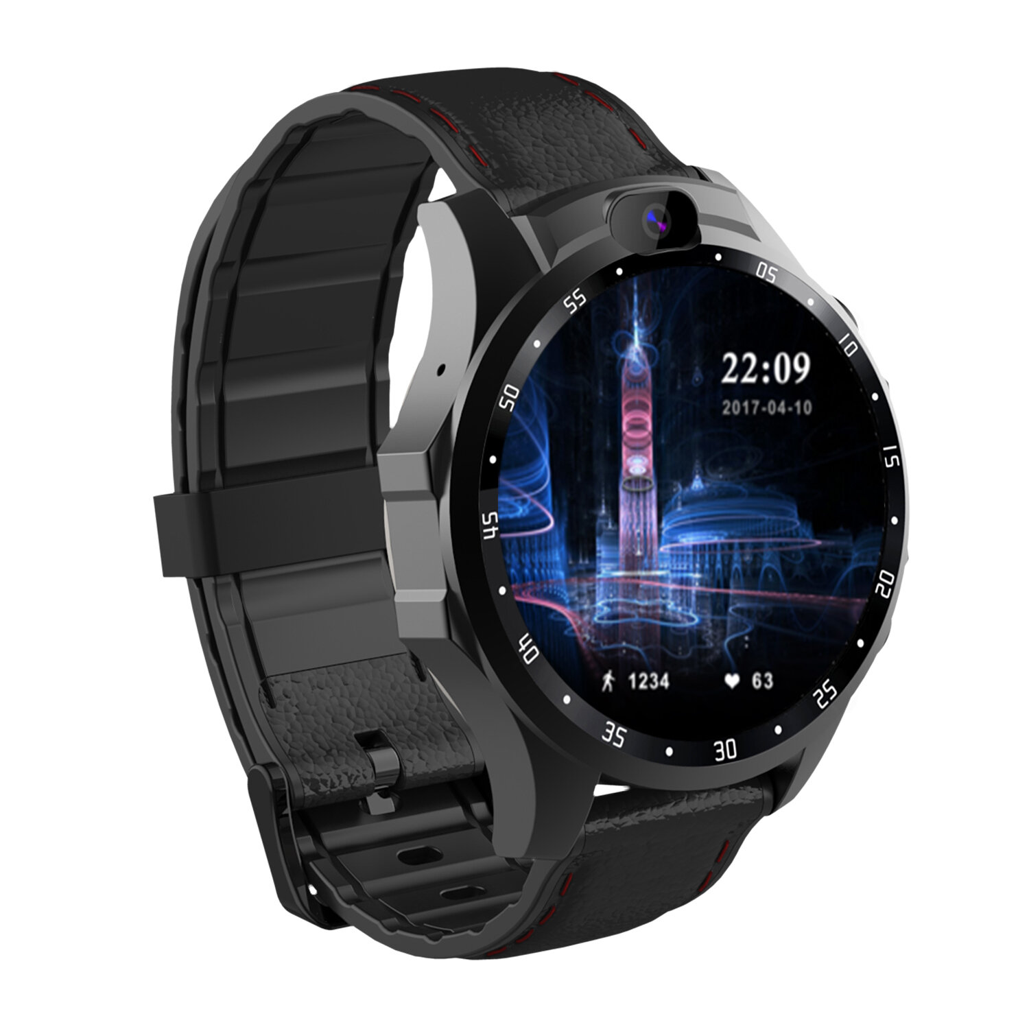 JSBP X361 Pro 4G 3+32G Dual HD Camera GPS Positioning Smart Watch Phone 1.6'' Touch Screen Waterproof Heart Rate Monitor Mobile Theater Fitness Sports Bracelet - 4