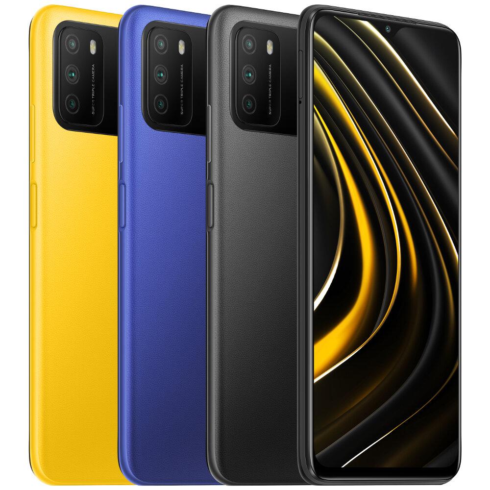 POCO M3 Global Version 48MP Triple Camera 6000mAh 6.53 inch 4GB RAM 64GB ROM Snapdragon 662 Octa Core 4G Smartphone