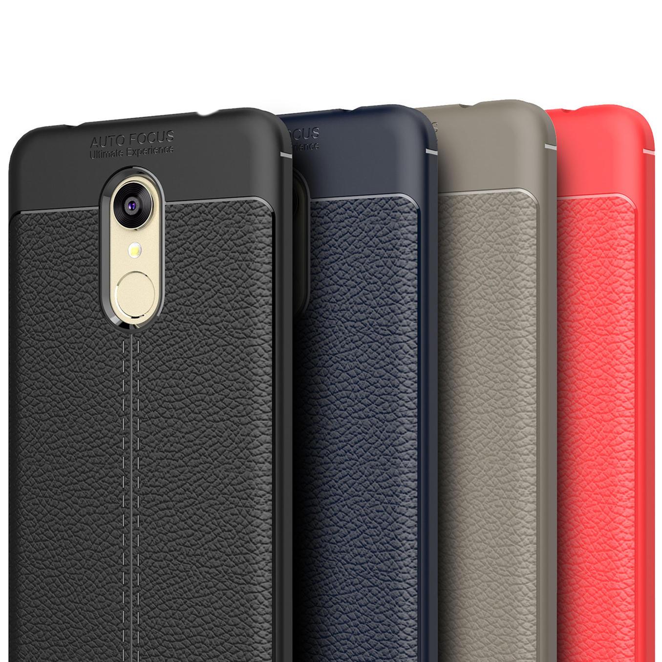 Bakeey Litchi Resistente a la Caída Soft TPU Protector Caso Para Xiaomi Redmi 5 Plus