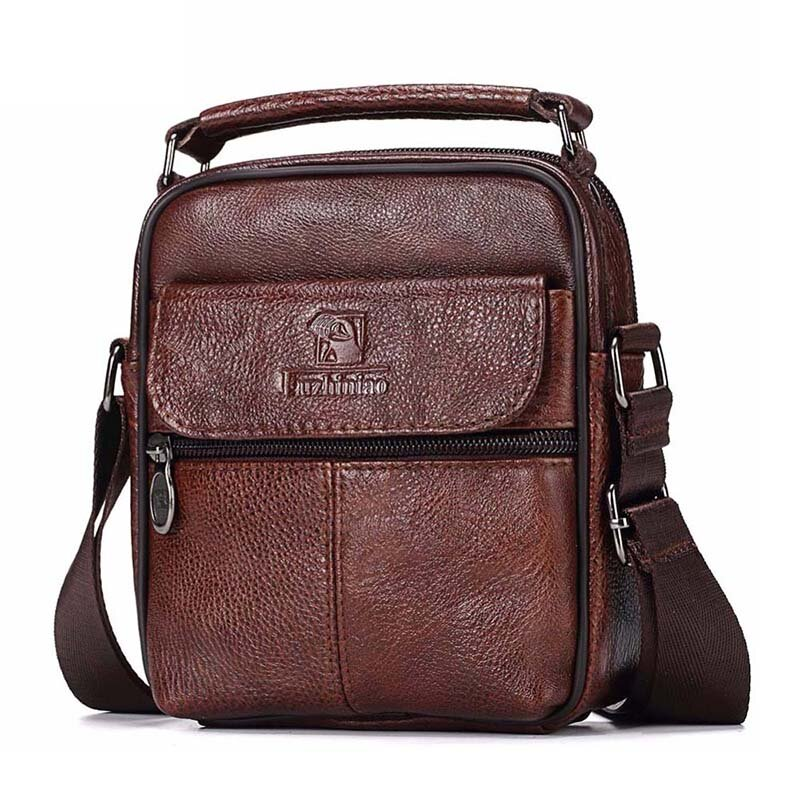 Men Genuine Leather Messenger Bag Hot Sale Fashion Crossbody Shoulder Bags