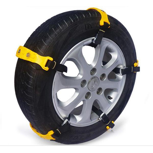 10pcs कार टायर हिमपात चेन बीफ टेंडन वैन व्हील टायर एंटी स्किड टीपीयू चेन सेट