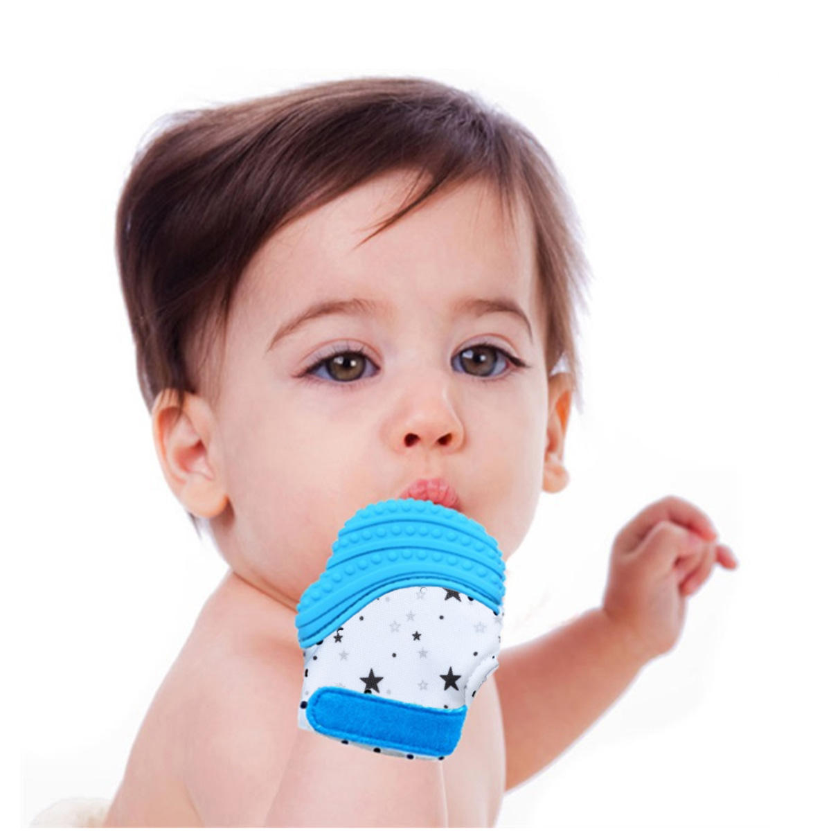 Silicone Baby Kids Munch Mitt Teething Mitten self soothing Teether Mitten for Baby Shower Outdoor Travel Teething Toys Gift