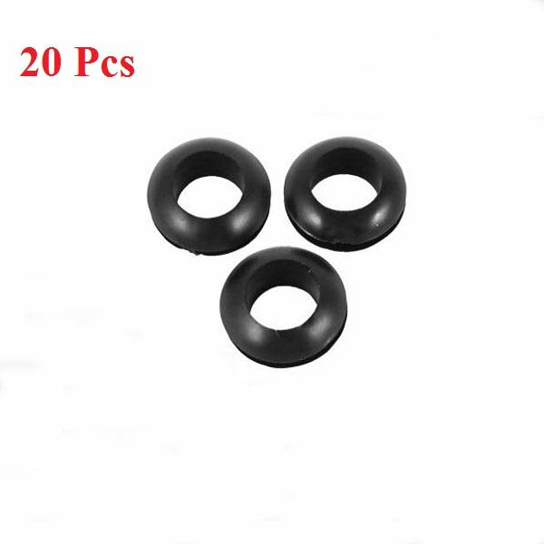11mm Rubber Wiring Grommets 6mm Cable Wire Open Hole Ring Electrical Black