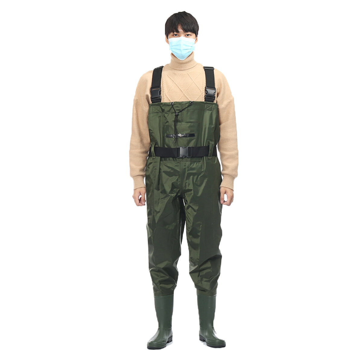 Outdoor Breathable Wader Pants Fishing Waders Durable Comfortable Stocking Foot Chest Pants Fishing Apparels For Men