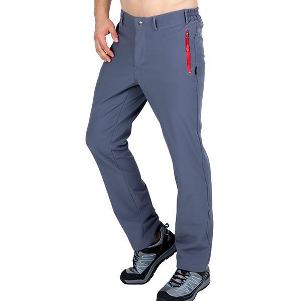 Men Winter Fleece Warm Outdoor Climbing Pants Waterproof Camping Hiking Soft Shell Trousers