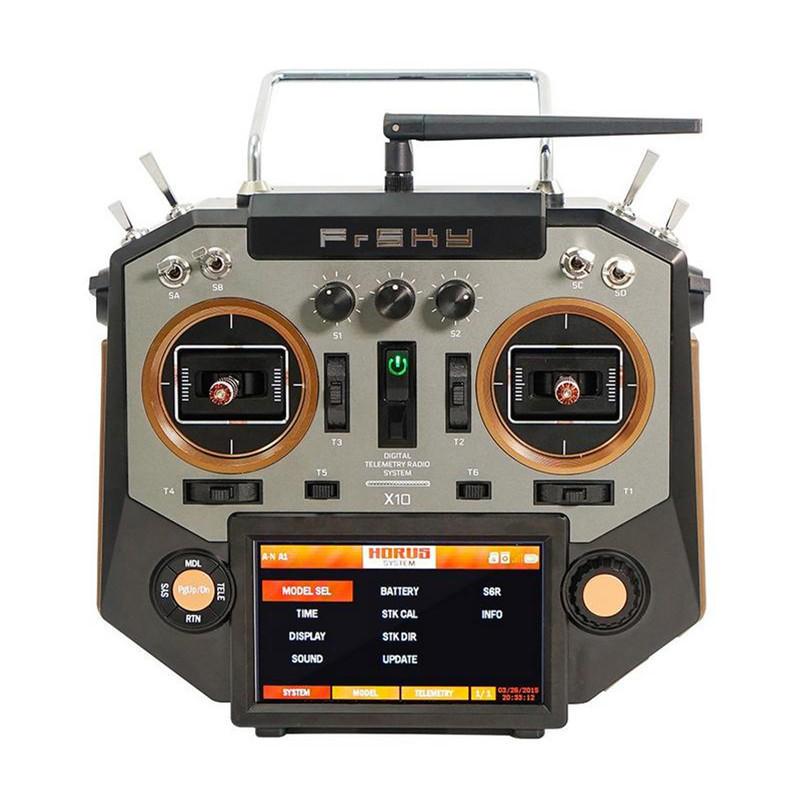 FrSky Horus X10 16 kênh RC Drone Chế độ máy phát 2 Bộ điều tiết tay trái và màu hổ phách