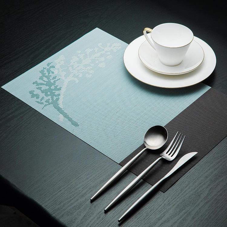 KCASA Placemat Fashion Pvc Dining Table Mat Disc Pads Bowl Pad Coasters Waterproof Table Cloth Pad Slip-Resistant Pad
