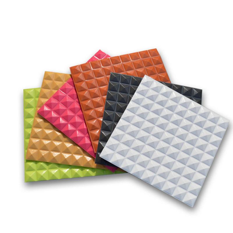 PE Foam 3D Adhesive Wall Sticker Anti-collision Waterproof Panels Decor 30×30cm
