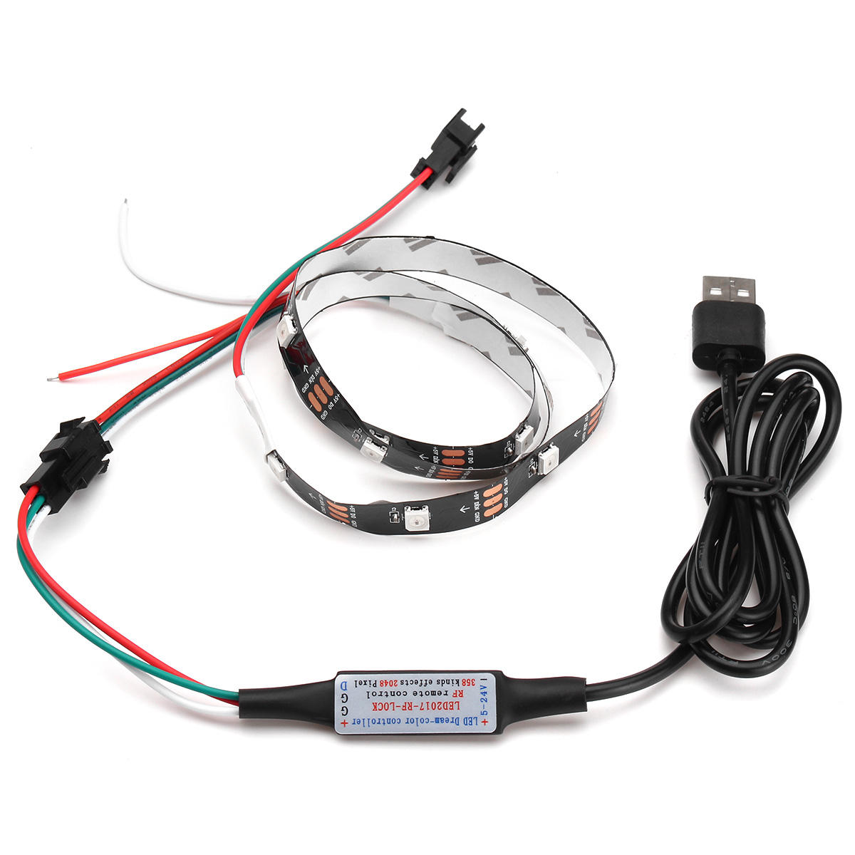 1M WS2812B 5050 RGB Changeable LED Strip Light 144 Leds Non-waterproof Individual Addressable 5V - 3