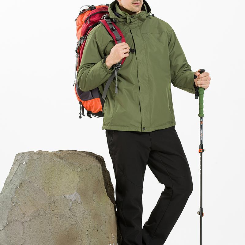 Hommes Camping Randonnée Imperméable Coupe Vent Triple Soft Shell Chaud Liner Manteaux Veste - 8