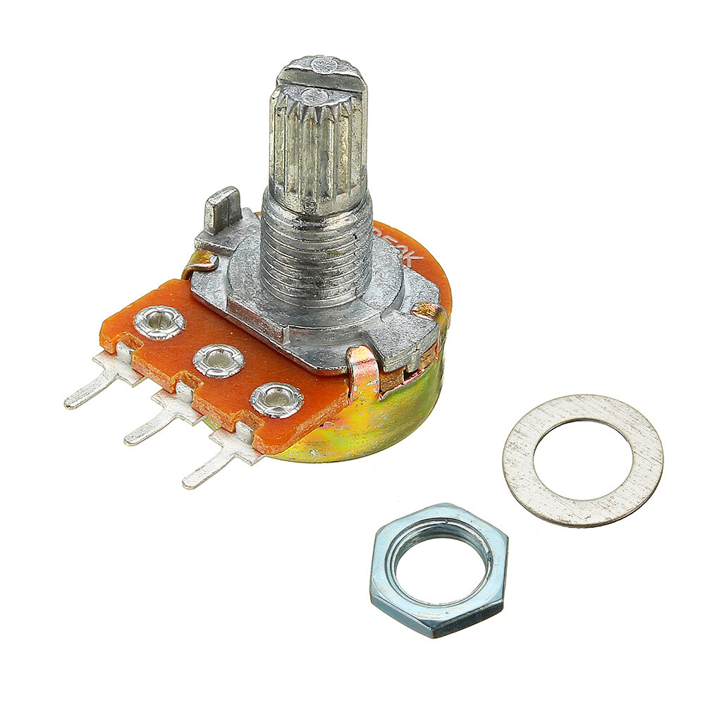 5pcs 200V 0.2W 10K Ohm Potentiometer Single Linear