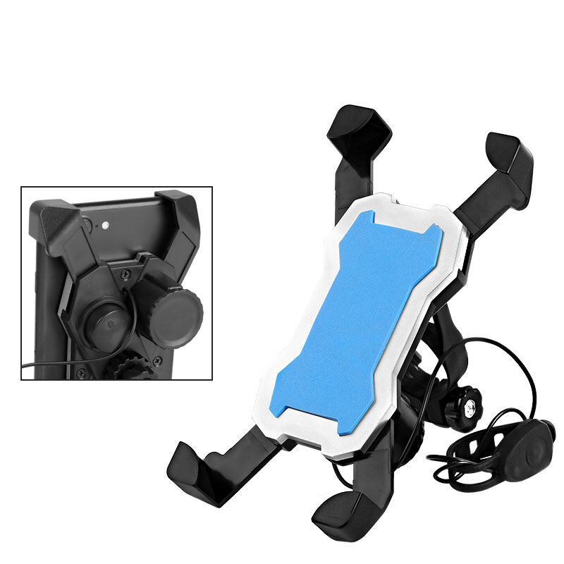 BIKIGHT 3.5-6.5 Inch Bicycle Phone Holder 360° Rotation Smart Phone Stand Mount With Horn For Cycling