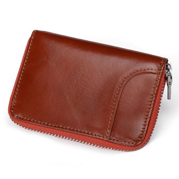RFIDHerenendamesechtleer 12 kaartslot portemonnee Korte portemonnee - 9