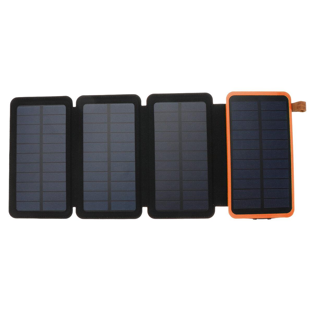 20000mAh Solar Panel Solar Charger 7W 5V/2A Foldable Solar Panel Charger Dual USB Portable Mobile Power Bank
