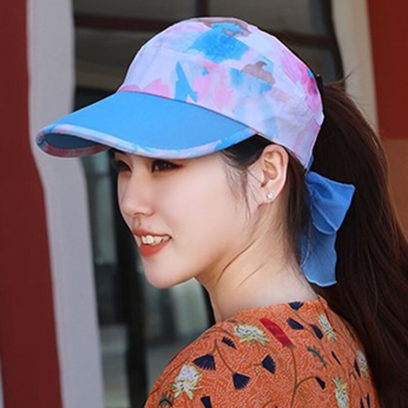 Women Outdoor Empty Top Baseball Cap Sun Protection Sun Hat  Bicycle Anti-UV Wild Casual Hat