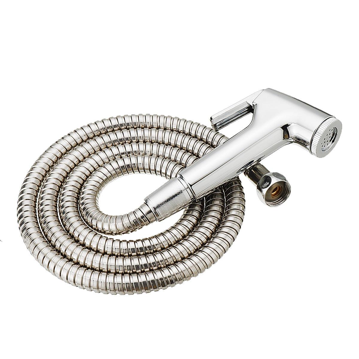 ABS Bathroom Portable Bidet Sprayer Handhold Toilet Bidet Shower Head Sprayer for Personal Hygiene w/ 1.5m Stainless Steel Hose