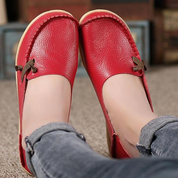Tamaño de los EE.UU. 5-11 zapatos Mujer Flats Cómodo Casual al aire libre Resbalón transpirable en los zapatos de los holgazanes de los planos