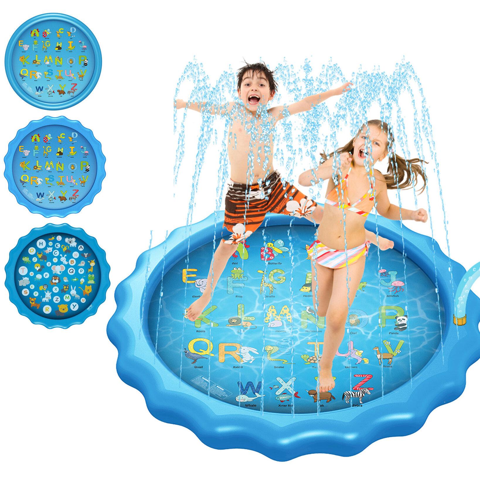 """170 سنتيمتر * 10 سنتيمتر / 68 """"* 3.93 '' نفخ بركة سباحة الصيف سبلاش رش الرش playmat في الهواء الطلق المياه تلعب حصيرة لعبة للأطفال الأطفال الصغار"""