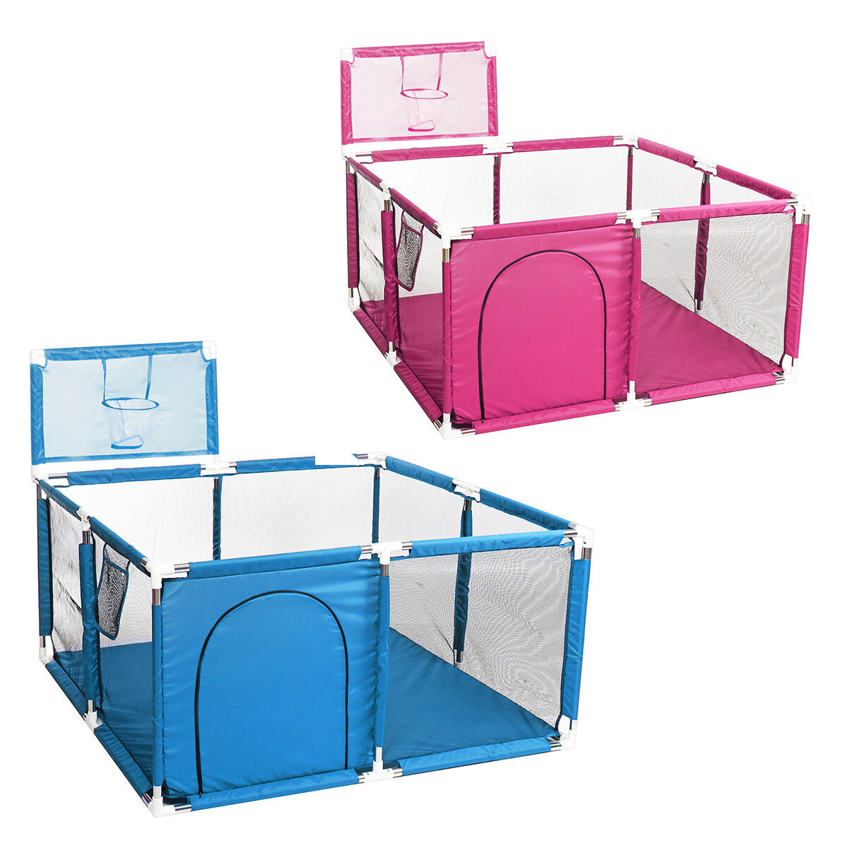 Millhouse Baby Toddler Playpen Interactive for Under 36 Months Kids Playing Learning Children Play Playard Ocean Ball Safety Gate 4 Panel Fence