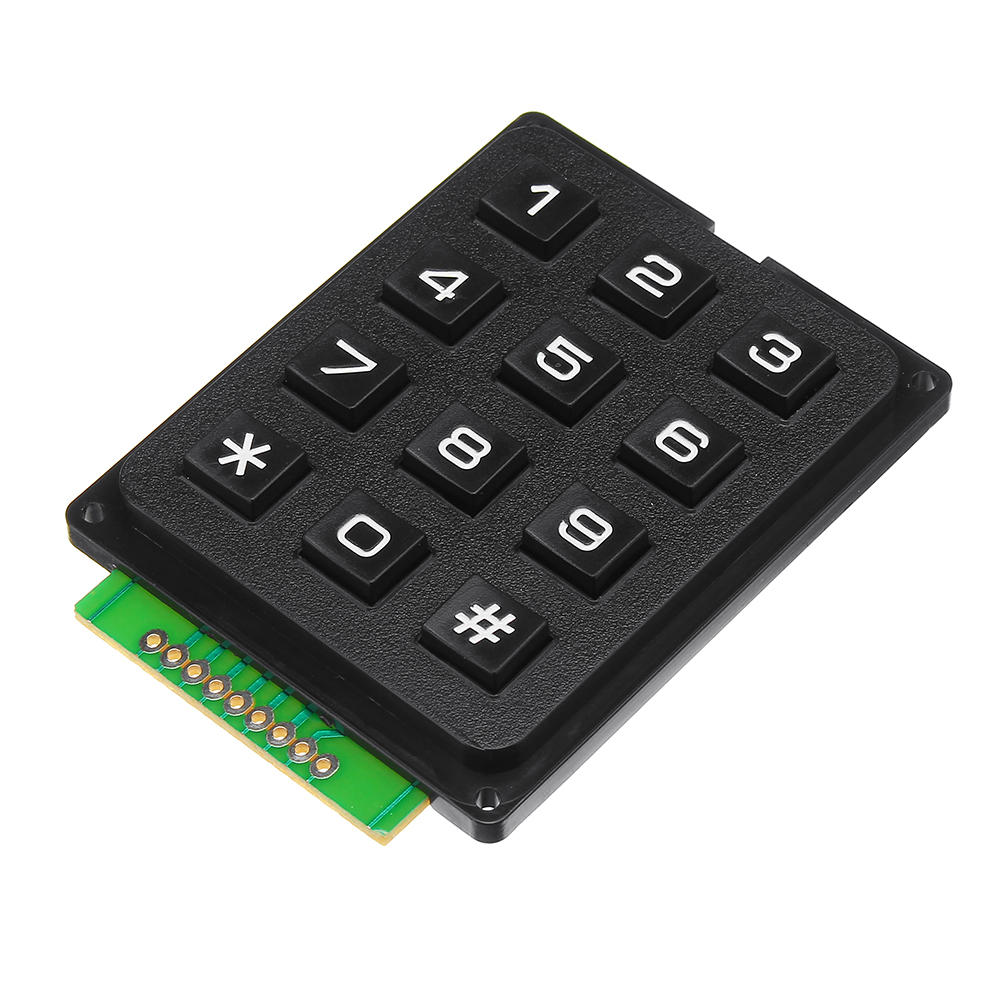 12 Key MCU Membrane Switch Keypad 4 x 3 Matrix Array Matrix Keyboard Module Geekcreit for Arduino - products that work with official Arduino boards