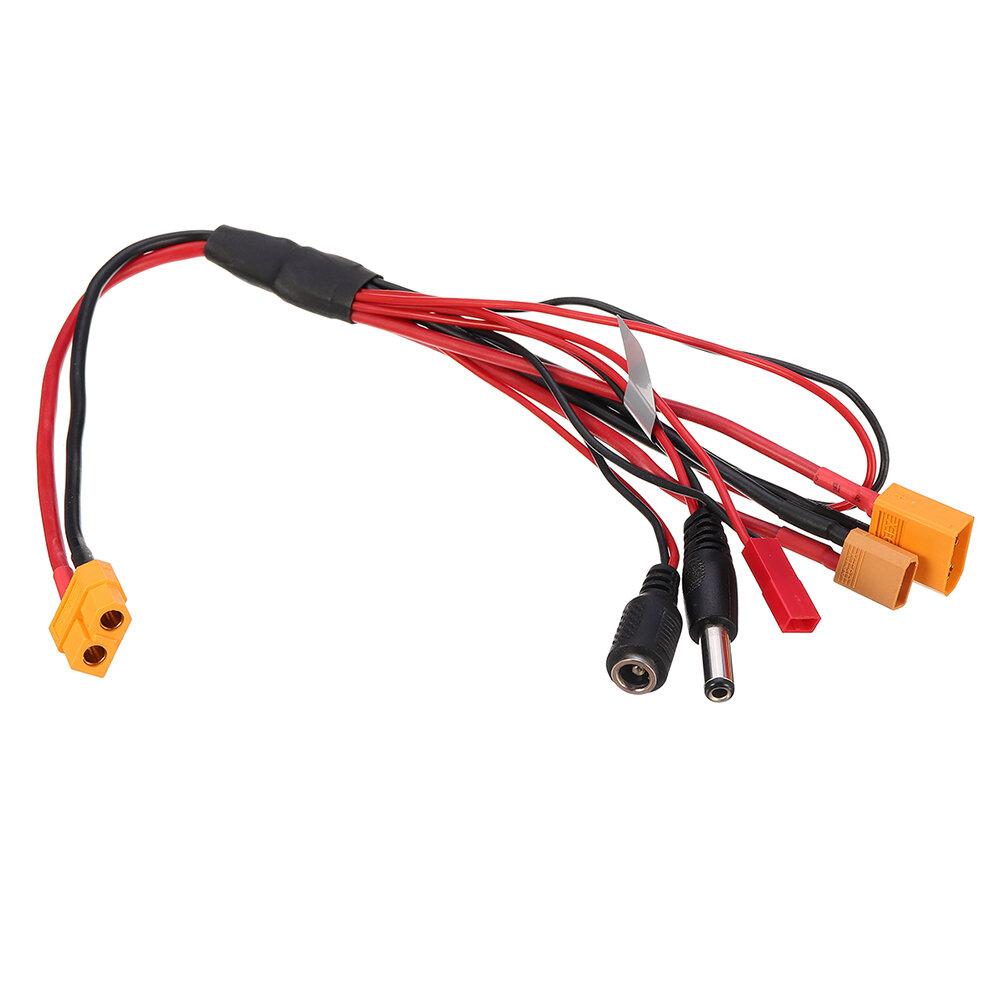 बैटरी चार्जर के लिए XT60 / XT30/Fatshark / JST प्लग चार्जर केबल XT60 इनपुट