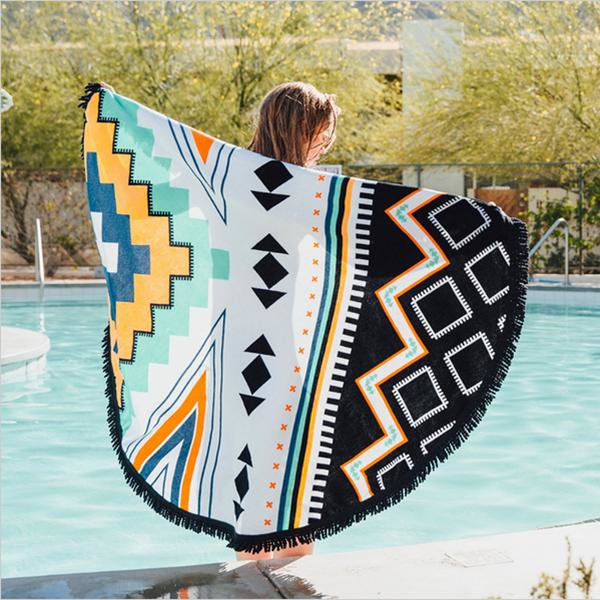 Honana WX-91 Bohemian Tapestry Totem Lotus Beach Towels Yoga Mat Camping Mattress Bikini Cover - 10