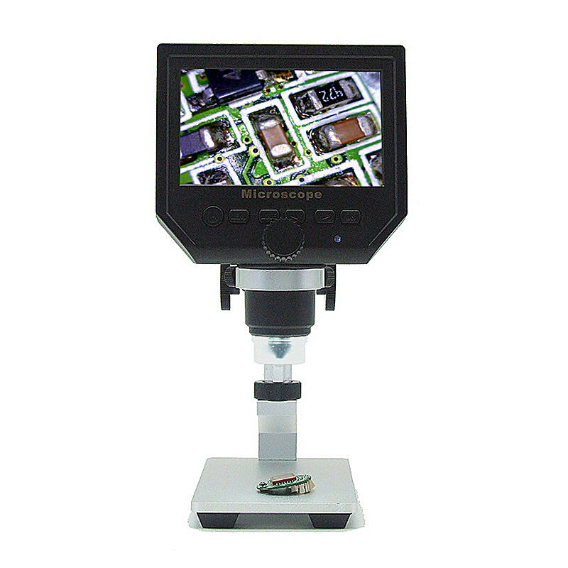 MUSTOOL G600 600X Electronic USB Microscope Digital Soldering Video Microscope Camera 4.3 Inch LCD Magnifying Camera Curved Tube Bracket 8 LEDs and Built-in Lithium Battery - 4