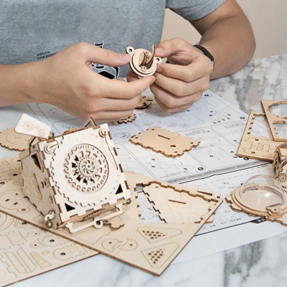 DIY Hand-assembled Music Box Creative Piano Hand-operated Music Box for Children - 8