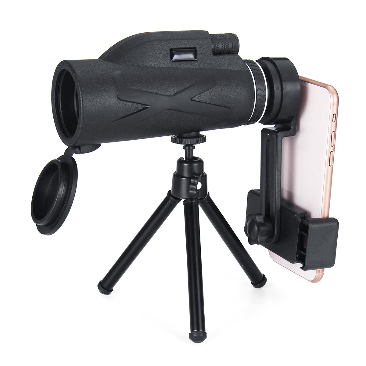 80x100 Ampliação Portátil Monocular Telescópio Poderoso Binóculos Zoom Grande Telescópio Portátil Militar HD Caça Profissional