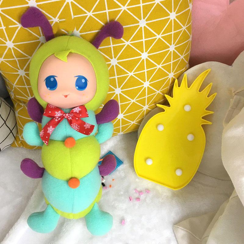 Caterpillar Фаршированная перед сном Playmate Короткая плюшевая игрушка Подарочная коллекция декора - 5