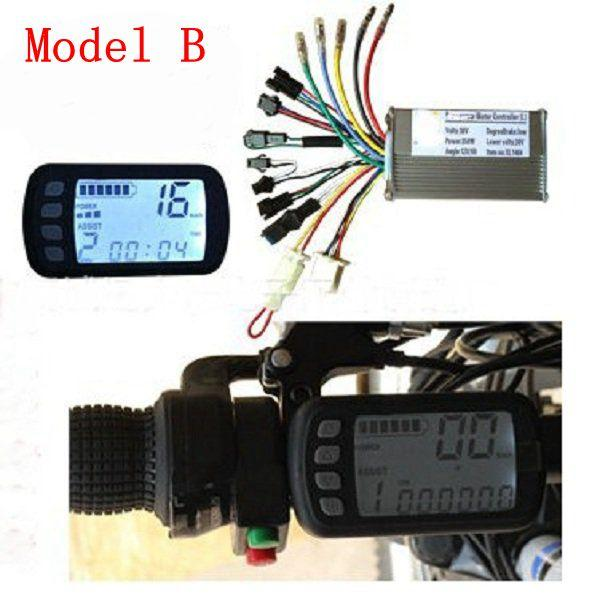 24V36V48V250W350W BLDC Motor Speed Controller LCD Display For MTB E-Bike  Scooter Model B