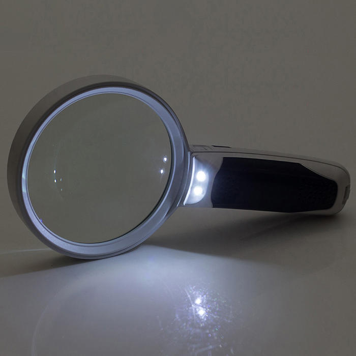 Interchangeable Handheld LED Light Magnifying Glass Magnifier High Power for Reading Sewing Jewelry Travel with 3 Different Lens - 2