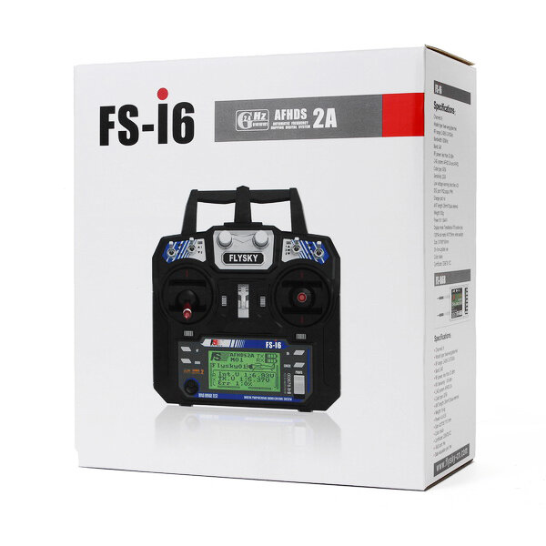 Flysky i6X FS-i6X 2.4GHz 10CH AFHDS 2A RC Transmitter With X6B/IA6B/A8S Receiver for FPV RC Drone - 12