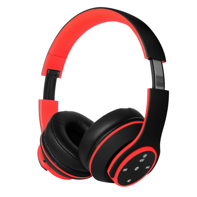 Wireless Touch bluetooth Headphone Stereo Subwoofer TF Card FM Radio 3.5mm Wired Hands-free with Mic
