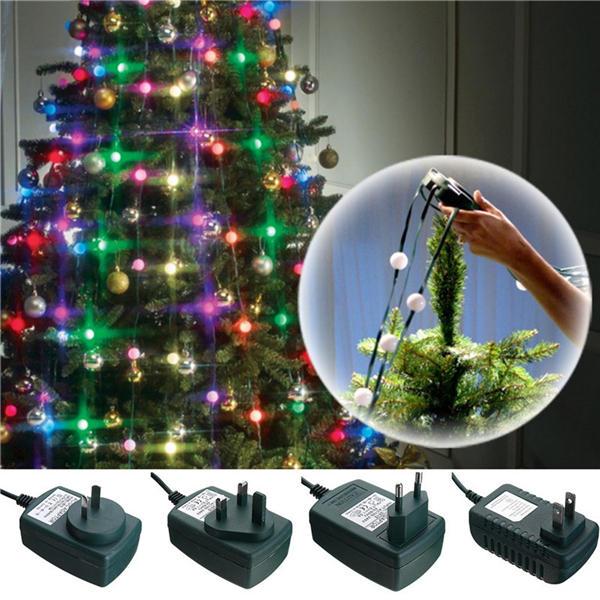 3 Modes Colorful LED Christmas Tree Fiber Fairy Night Holiday Light Bulb Lamp Decoration AC110-240V