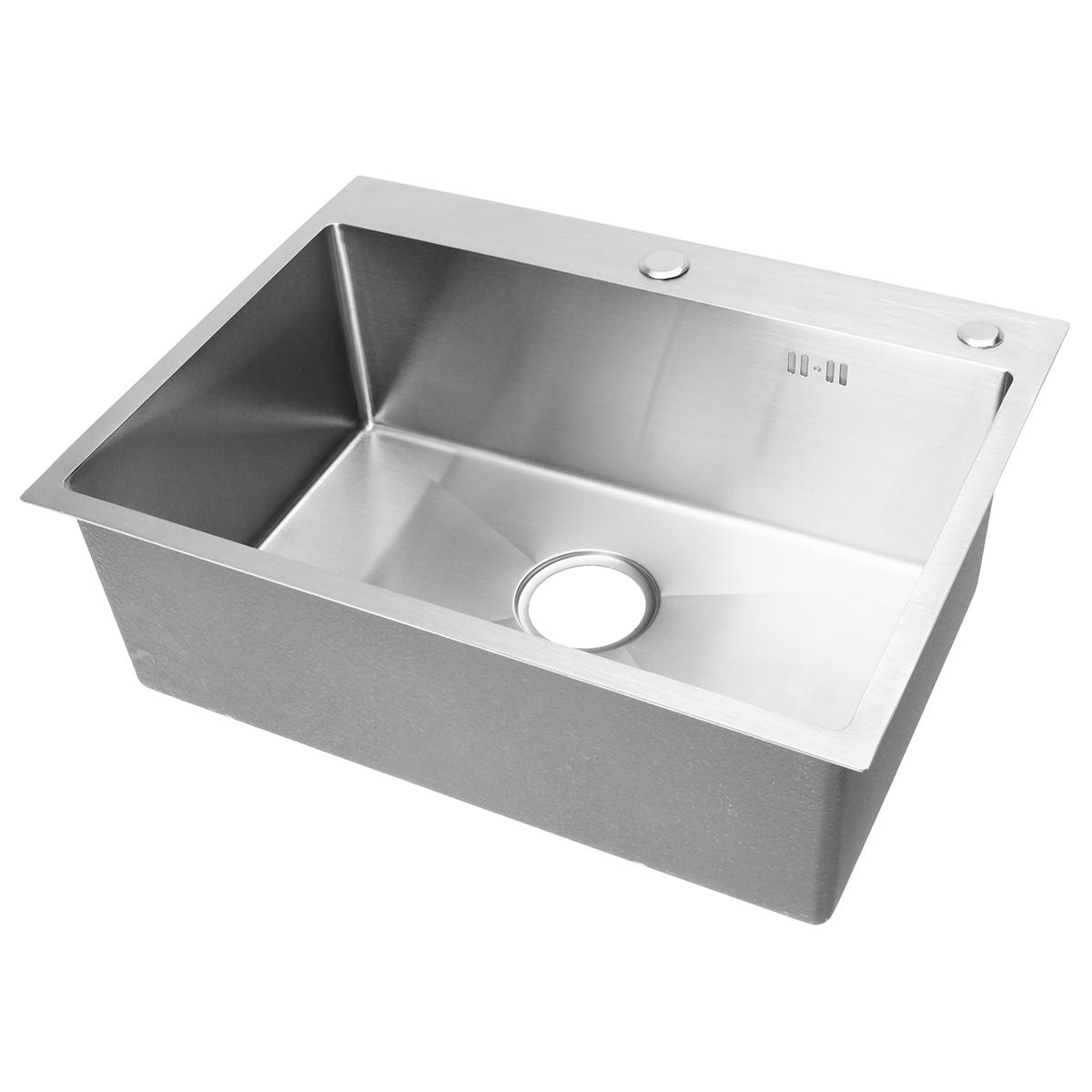 Stainless Steel Single Bowl Kitchen Sinks Commercial Home Top