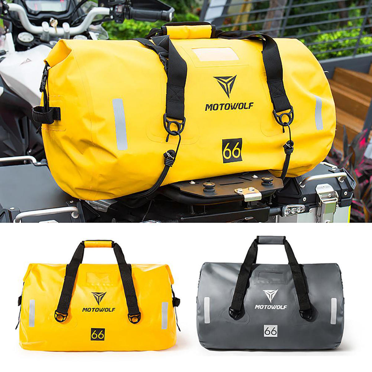 40l 66l 90l Motorcycle Touring Waterproof Dry Luggage Bag Motorbike Roll Pack Outdoor