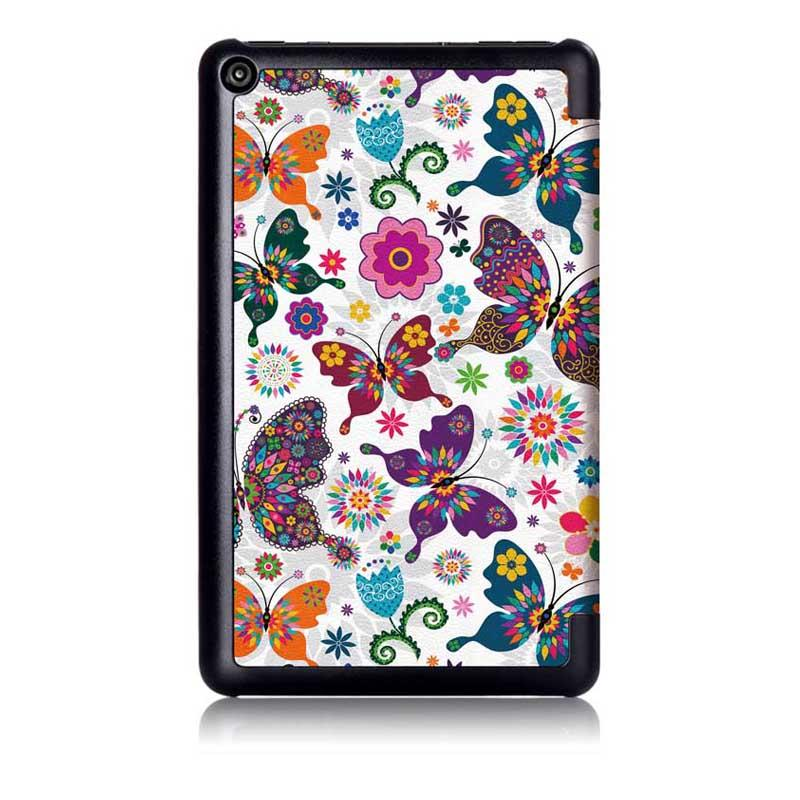 Tri Fold Pringting Tablet Case Cover for New F ire HD 7 2019 Butterfly - 3