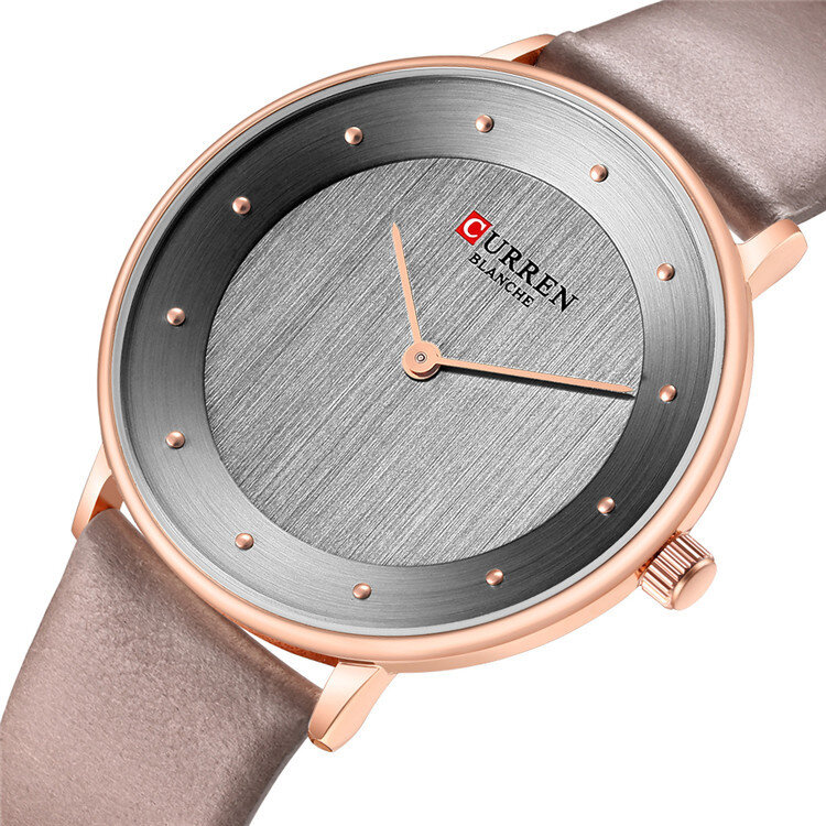 CURREN 9033 Ultra Thin Dial Case Casual Style Quartz Watch Leather Band Business Women Watch