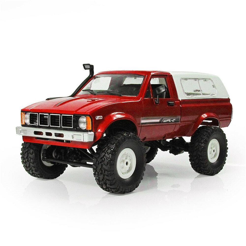 डब्लूपीएल सी 24 1/16 आरटीआर 4WD 2.4 जी सैन्य ट्रक छोटी गाड़ी क्रॉलर ऑफ रोड आरसी कार 2CH खिलौना