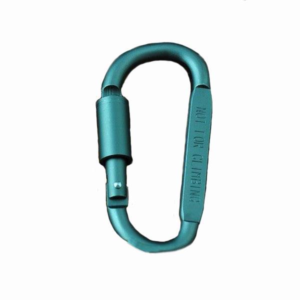 1 قطع في شكل d حلقة تسلق زجاجة شنقا مشبك هوك المفاتيح المسمار قفل سبائك الألومنيوم