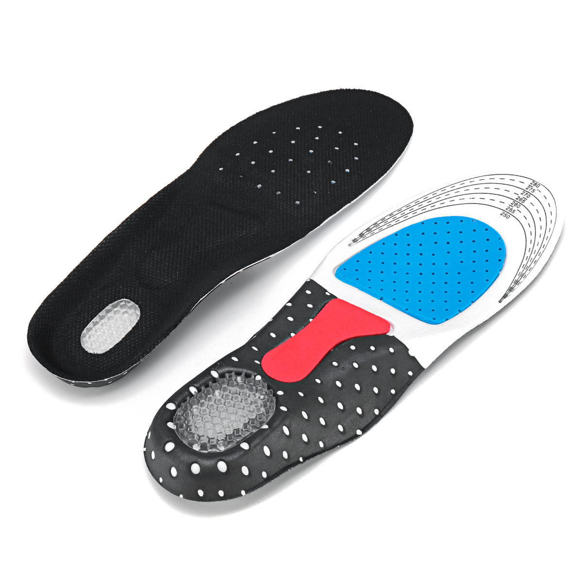 40-46 Size Men Women Fashion Silica Gel Insole Orthotic Sport Running Shoes Insoles Pain Relief