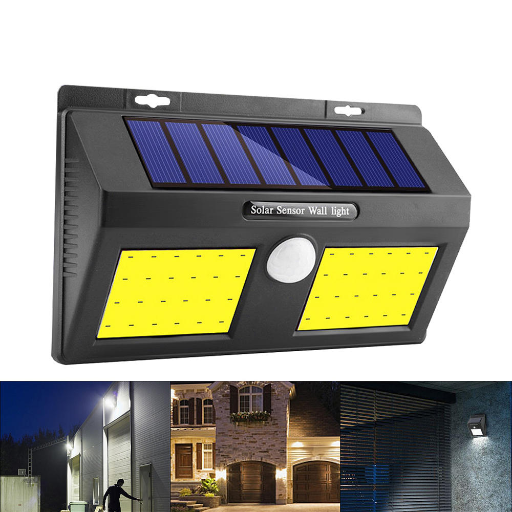 100 COB LED Solar Power Wall Light PIR Motion Sensor Garden Security Outdoor Yard