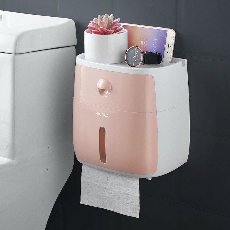 Toiletrolhouder Wandmontage Zelfklevend Tissue Papieren Houder Doos Voor Rolpapier Keukenpapier Papieren Zakdoekje - 4