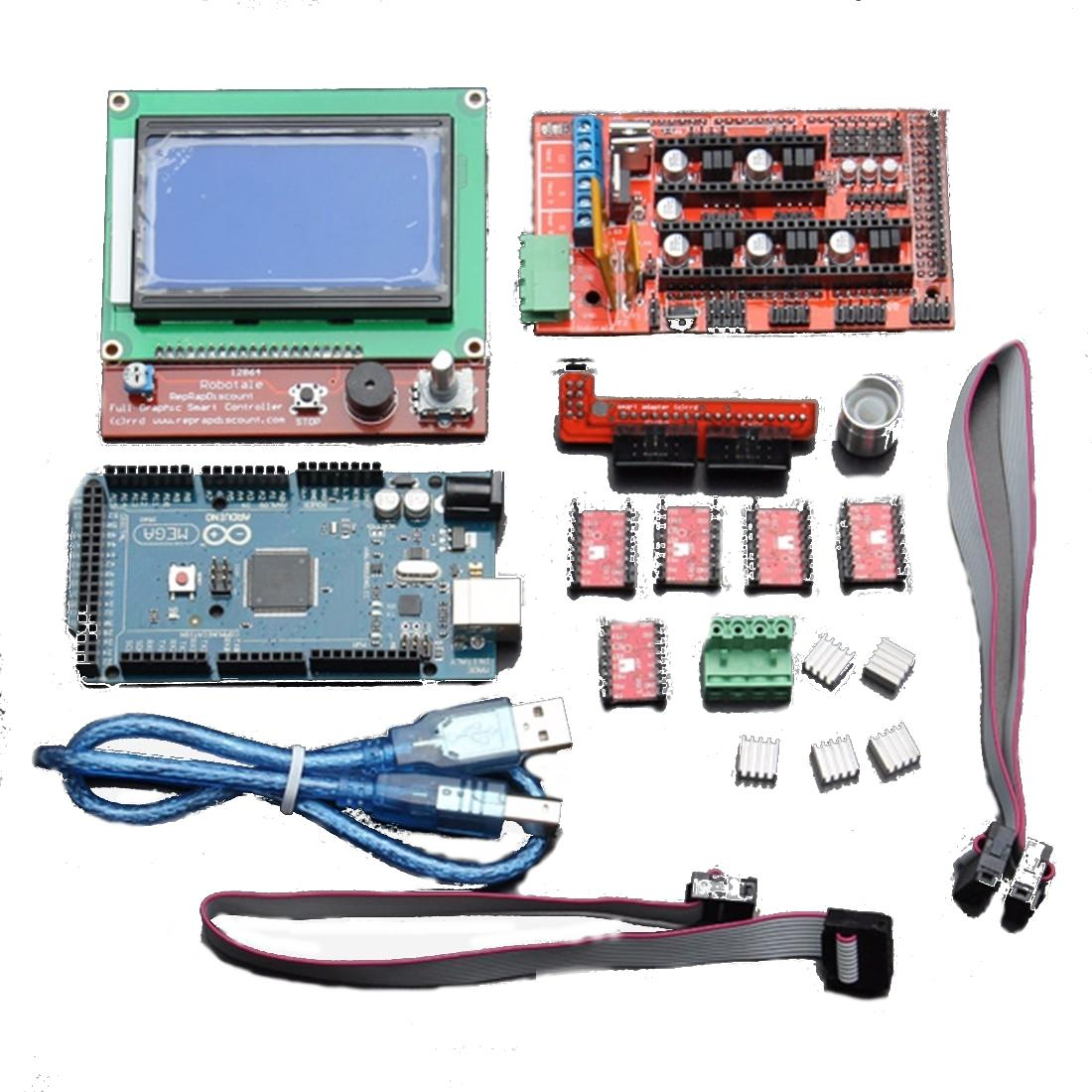 Geekcreit LCD 12864 RAMPS 1.4 Board 2560 R3 Control Board A4988 Driver Kit For 3D Printer фото