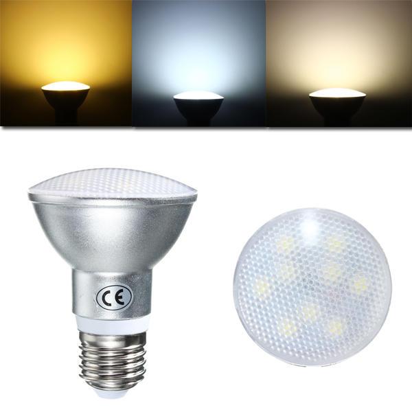 Dimmable E27 PAR20 9W 9Leds LED IP65 Spotlightt Bulb AC 220V
