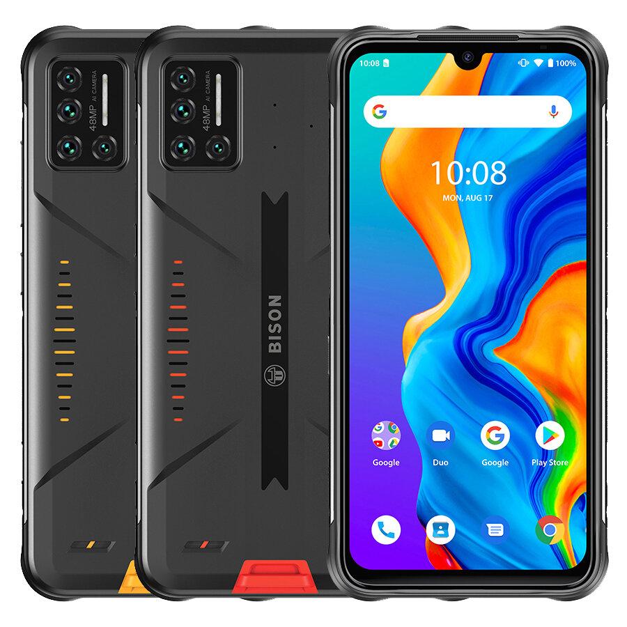 UMIDIGI BISONグローバルバンドIP68&IP69K防水NFC Android 11 5000mAh 8GB 128GB Helio P606.3インチ48MPクアッドリアカメラ24MPフロントカメラ4Gスマートフォン
